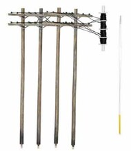 N Pre-Wired Poles Double Crossbar - Pre-Order Item WOO2251