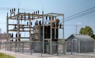 HO Ready Made Utility System Substation - Pre-Order Item WOO2268