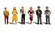 Woodland Scenic  O Scenic Accents Pedestrians Standing (6) WOO2763
