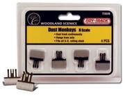 Woodland Scenic  N Tidy Track N Dust Monkeys Cleaner (4) WOO4570