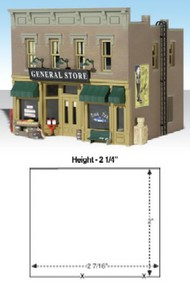 Woodland Scenic  N Built-N-Ready Lubener's 2-Story General Store LED Lighted WOO4925