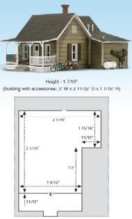 Woodland Scenic  N Built-N-Ready Granny's 2-Story House WOO4926