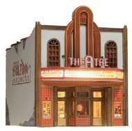 Woodland Scenic  N Built-N-Ready Theater 2-Story Building LED Lighted WOO4944