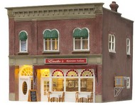 Woodland Scenic  N Built-N-Ready Emilio's Italian Restaurant 2-Story Building LED Lighted WOO4945