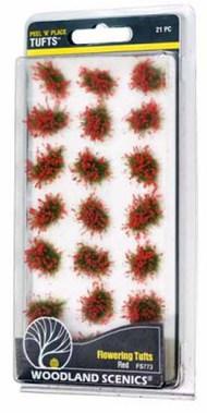 Peel n Place- Red Flowering Tufts #WOO773
