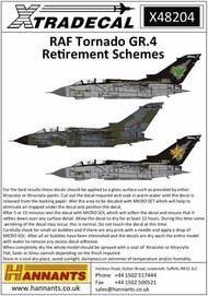 RAF Panavia Tornado GR.4 Retirement Schemes (3) #X48204