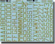 RAF Code Letters/Numbers (Sky Gray) #XD32024