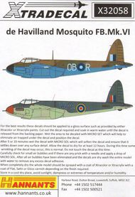 de Havilland Mosquito FB.Mk.VI (4) #XD32058