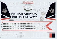 XtraDecal  1/144 Boeing 777 BRITISH AIRWAYS Landor delivery scheme. G-ZZZA/-E. Includes names, doors, windows etc. Coloured instructions XD44001