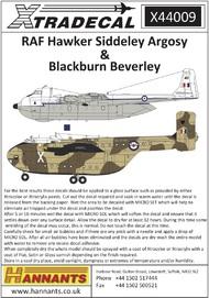 RAF Hawker-Siddeley Argosy & Blackburn Beverley #XD44009