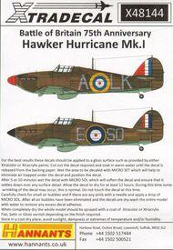 Hawker Hurricane Mk.I Battle of Britain 1940 #XD48144