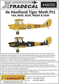 de Havilland DH.82a Tiger Moth Pt1 #XD48205