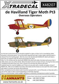 de Havilland DH.82a Tiger Moth Pt3 Overseas Operators (7) #XD48207