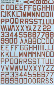 RAF WW2 Dull red bomber code letters 48in hi #XD72212