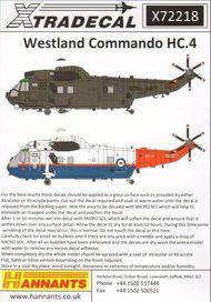 Westland Commando (Sea King) HC.4 (11): ZA296 #XD72218