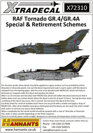 RAF Panavia Tornado GR.4/GR.4A Special & Retirement Schemes (8) #XD72310