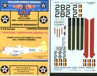 Yellow Wings Decals  1/32 USN & USMC SBD2 Dauntless #2106 Midway Madness YWD32001