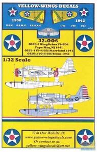 Yellow Wings Decals  1/32 OS2U-1 OS2U-2 Kingfisher VS-5D4 / USS Maryland / USS Texas YWD32006