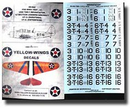 Yellow Wings Decals  1/48 TBD-1 Devastator USN VT-3/VT-6 YWD48002