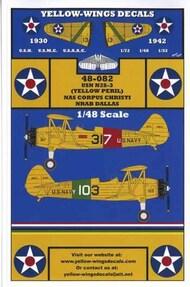 Yellow Wings Decals  1/48 USN N2S-3 (Yellow Peril) NAS Corpus Christi NRAB Dallas YWD48082