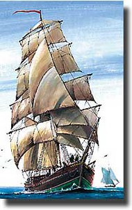 Zvezda Models  1/100 Brigantine English Sailn'Ship ZVE9011
