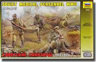 Zvezda Models  1/35 Soviet Medical Troops WWII (5 Figures Set and Stretcher) ZVE3618