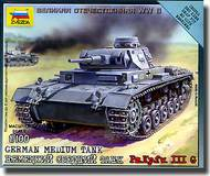 Zvezda Models  1/100 German Tank Panzer III - New Tooling ZVE6119