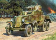 Zvezda Models  1/100 Soviet BA10 Armored Car (Snap) ZVE6149