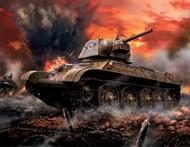 Zvezda Models  1/100 WWII Soviet T34/76 Mod 1943 Medium Tank (Snap) ZVE6159