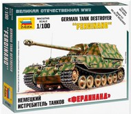 Zvezda Models  1/100 WWII German Ferdinand Tank Destroyer (Snap) ZVE6195