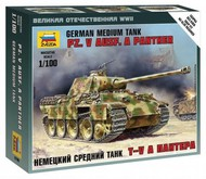 Zvezda Models  1/100 German Pz V Ausf A Panther Medium Tank (Snap) ZVE6196
