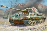 Zvezda Models  1/100 German King Tiger Ausf B Henschel Turret Heavy Tank (Snap) ZVE6204