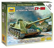 Zvezda Models  1/100 Soviet Su100 Self-Propelled Gun Tank (Snap) ZVE6211
