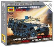 Zvezda Models  1/100 Sd.Kfz.251/1 Ausf B Stuka zu Fuss Halftrack (Snap) (New Tool) ZVE6243