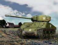 Zvezda Models  1/100 US M4A2 Sherman Tank (Snap) ZVE6263
