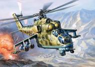 Zvezda Models  1/144 Russian MI-24v Hind Attack Helicopter (Snap) ZVE7403