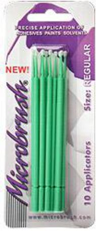 Microbrush Disposable Q-Tip Type Applicator Green MHR10 (10 pcs on Card) #BRU10