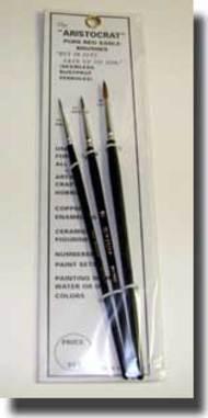 Brushes  1 Aristocrat Red Sable (3) BRU6003