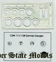 Copper State Models  1/28 German Gauge Set Film & PE CSMA28-113
