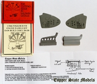 Copper State Models  1/28 Fokker D.VII Engine Panels Set, OAW Built CSMA28-158