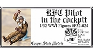 Copper State Models  1/32 RFC Pilot in the cockpit CSMF32-024