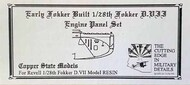 Copper State Models  1/28 Fokker D.VII Rounded Radiator & Early Engine CSMA28-160