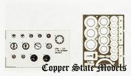 Copper State Models  1/32 German Gauge Set PE & Film CSMA32-182