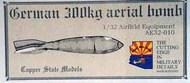 Copper State Models  1/32 German 300 kg aerial bombs CSMAE32-010