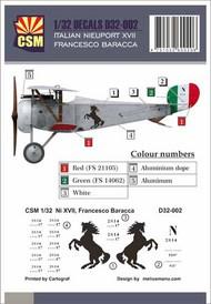 Italian Ace -  Nieuport 17 Francesco Baraca #CSMD32-002