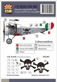 Italian Ace -  Nieuport 17 Fulco Ruffo Di Calabria #CSMD32-003