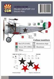 Italian Ace -  Nieuport 17 Giulio Poli #CSMD32-004