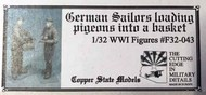 German sailors with pigeons #CSMF32-043
