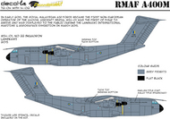 decal-la  1/144 RMAF Airbus A400M and includes declas for 1/144 scale as bonus. DLA7204