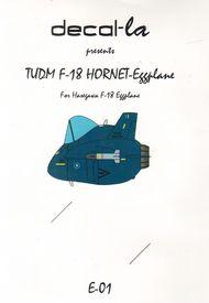 decal-la  Unknown TUDM F-18 Hornet Hasegawa Eggplane DLAE01